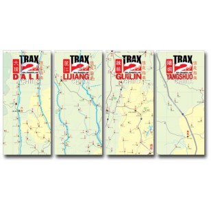 Guilin, Yangshuo, Dali, Lijiang set of 4 popular maps